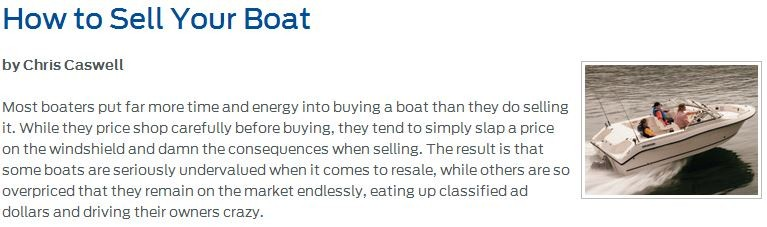 how to sell your boat