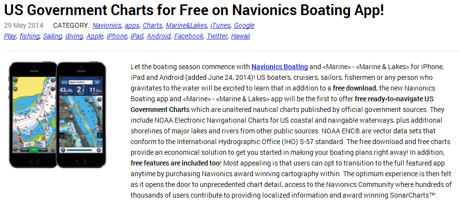 us government charts for free on navionics boating app