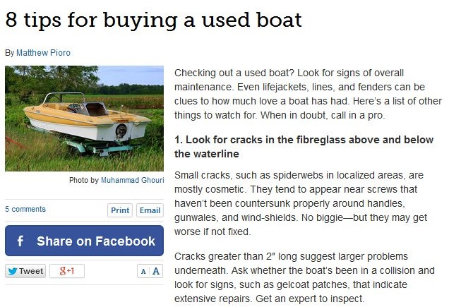 8 Tips for buying a used boat