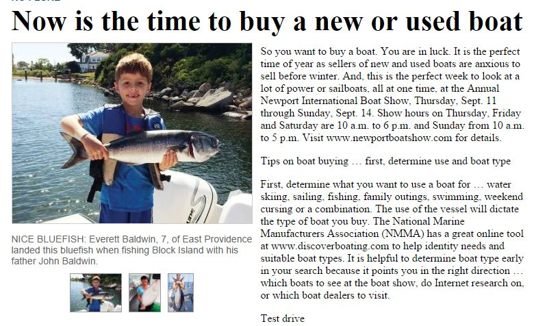 Now is the time to buy a new or  used boat