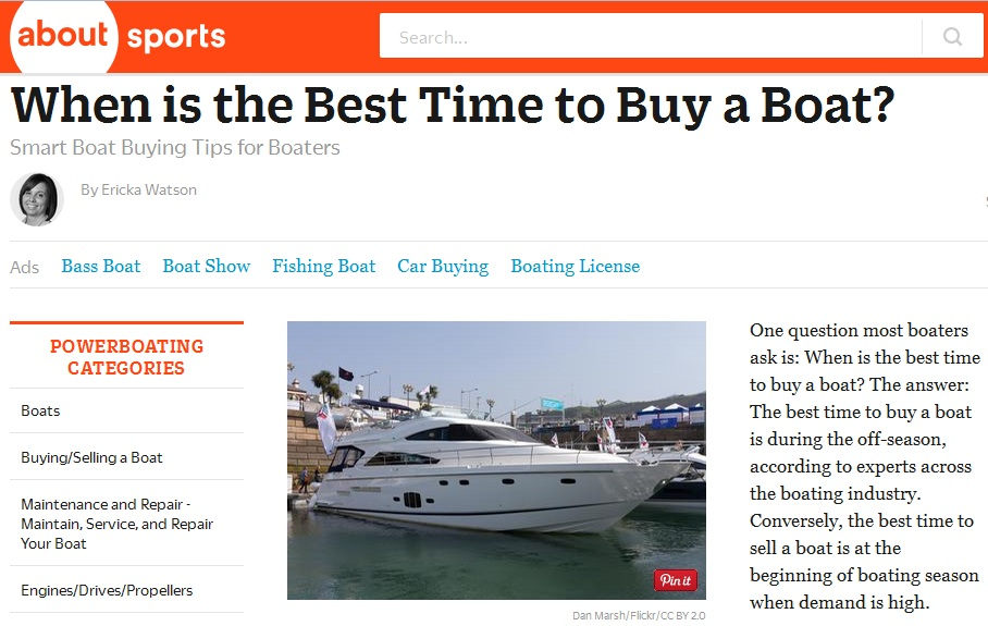 When is the Best Time to Buy a boat